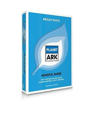 1 Ream (500 Sheets )Copy Paper Planet Ark A4 100% Recycled 80Gsm White