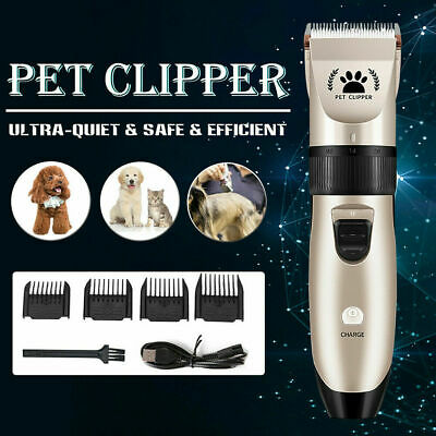 Electric Rechargeable Pet Dog Grooming Hair Clipper Cordless Shaver Trimmer Kit
