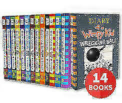 Diary Of A Wimpy Kid Collection 🔥 14 Books 🔥 Set By Jeff Kinney (P,D,F)