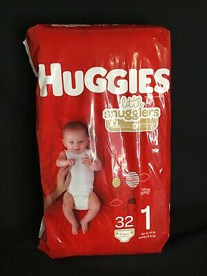 Huggies Little Snugglers Baby Diapers Size 1 Up to 14  lb Jumbo Pack, 32 Count