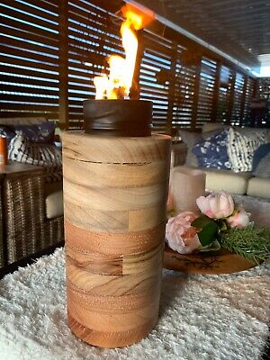 Red Cedar And Camphor Laurel Citronella Lamp Hand Made Lathe Turned Gift Torch