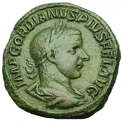 Nice Gordian Iii Ae Sestertius With Old Collection Id Packet (882P)