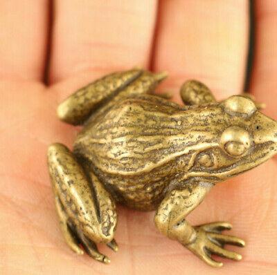 chinese old bronze hand carved lovely frog netsuke statue home decoration gift