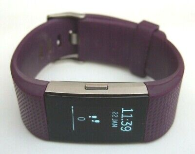 Fitbit Charge 2 & NEW Charge Lead Plum Colour Excellent Condition/Working Order