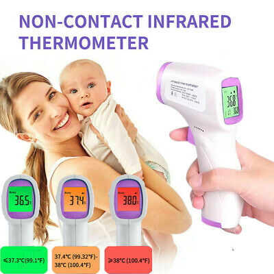 No Touch Infrared Digital Forehead Thermometer Baby Adult Body Temperature Gun A