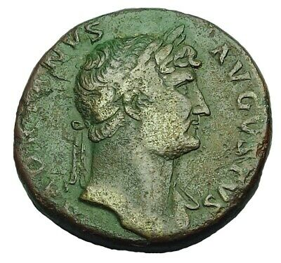 Hadrian Ae Sestertius With Old Collection Id Packet (896P)
