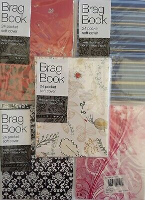24 Pockets Soft Cover Brag Book Photo Albums - Assorted Patterns