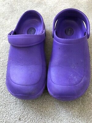 Purple Ezi-klog By Toffeln Antistatic Crocs Size UK 6 Eur 39 Ladies