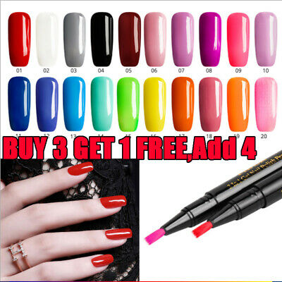 Yiber Magic 3 In 1 Nail Gel Varnish Pen One Step Polish Easy To Use Lacquer UK