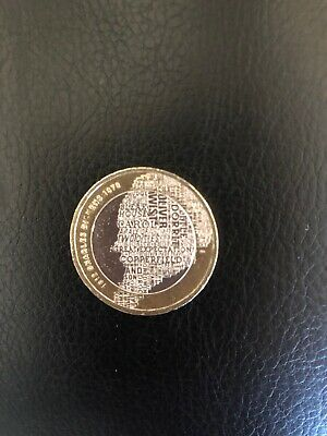 2012 British £2 Two 2 Pound Charles Dickens Coin Money Circulated