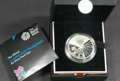 2012 Uk Silver Proof £5 Coin London Paralympic  Cased & Cert