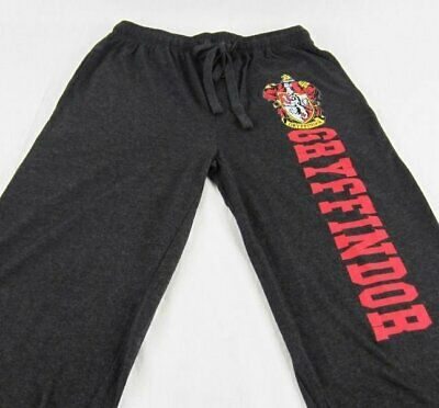 Mens Womens NEW Harry Potter Gryffindor Gray Pajama Lounge Pants M L
