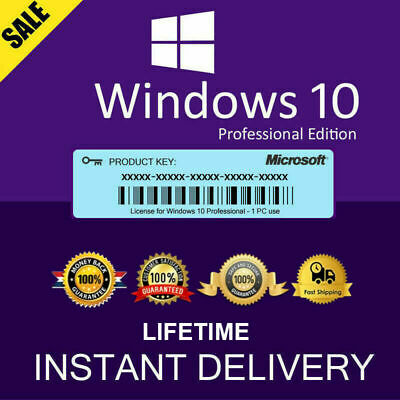 Genuine Windows 10 Pro Win 10 License Original Activation Key Instantly Send