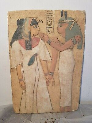 Rare Antique Ancient Egyptian Stela Nefertari God Isis Good Health 1279–1213 BC
