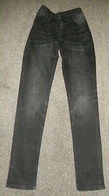 BOYS BLACK SUPER SKINNY JEANS AGE 16 YEARS NEXT adjustable waist