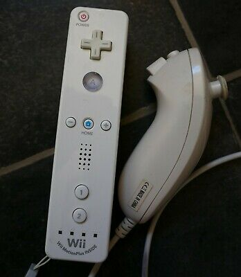 Nintendo Wii Remote Motion PLus Built-In Control + Nunchuck