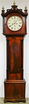 Antique  C1810 Scottish Flame Mahogany 8 Day Striking Longcase Grandfather Clock