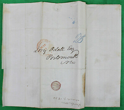 Original 1841 Historical Pre-Stamp Letter Amistad Decision King vs Clay and More