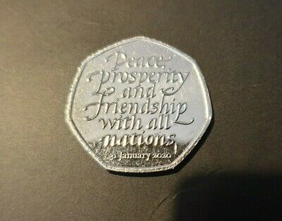 50p FIFTY PENCE COIN BREXIT PEACE PROSPERITY 31st JANUARY 2020 COLLECTABLE COIN