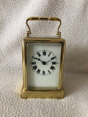 Antique Carriage Clock, Mantle Clock, Vintage Clock, One Piece Case