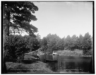 1896 Photo of On the Black River near South Haven, Mich.