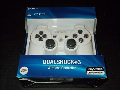 Sony PS3 Playstation DualShock 3 Wireless Bluetooth Controller White New Sealed