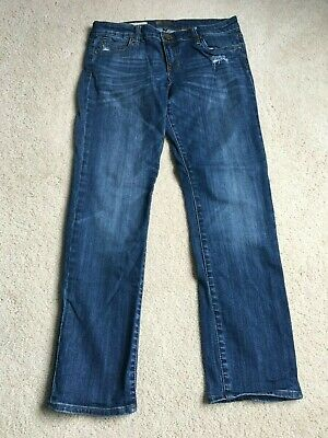 Kut From The Kloth Catherine Boyfriend Distressed Womens Dark Wash Jeans Size 8