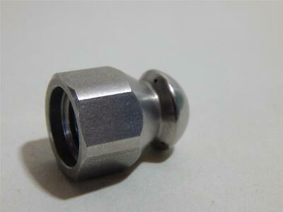 "Stainless Steel quality made 1/4"" sewer nozzle none forward, three backwards."