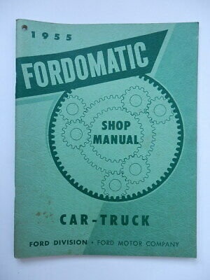 FORD 1955 AUTO CAR TRUCK FORDOMATIC DRIVE Shop manual catalog catalogo
