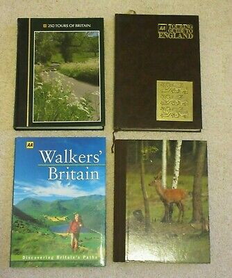 5 X AA Travel /Tour/Walking/Wildlife  Guides to  England & Britain VGC
