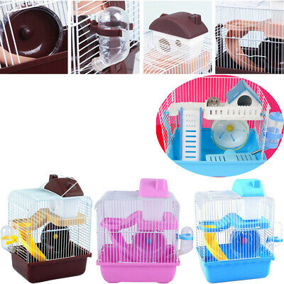 Hamster Cage Blue Plastic Hamster Hedgehog Guinea Pig Small Pets House 2 Tiers