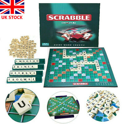New Original Scrabble Board Family Kids Adults Educational Toys Puzzle Game UK