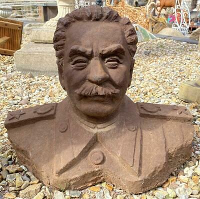 Large Cast Iron Bust of Joseph Stalin - Heavy - 53cm x 38cm - WW2 - WWII