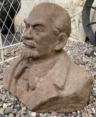 Large Cast Iron Bust of Vladimir Lenin - Heavy - 40cm x 43cm - Russian Leader