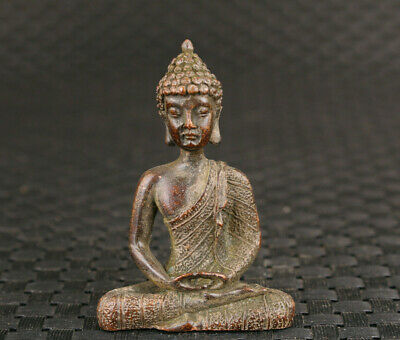 Chinese tibet old bronze handmade buddha statue figure collectable ornament gift
