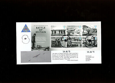 2015 Battle of Britain M/S National Memorial Arboretum S.Downes Official FDC