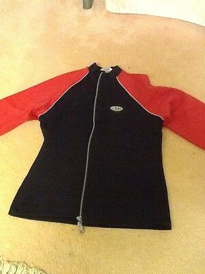 Girls Black and Red Zip top. Age 11/12 . Tesco