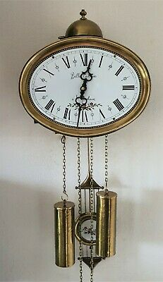 Jewellers Wall Clock Dutch 8 Day Comtoise Style Hermle 1979 Bell Strike Vintage