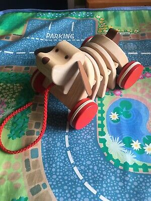 **Pull Along Wooden Dog Toddler Toy**