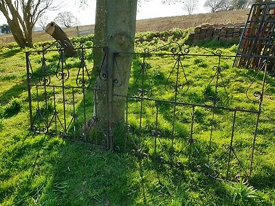 Pair of Iron driveway Gates garden path cast old barn find