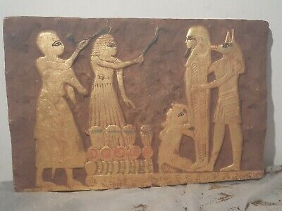 Rare Antique Ancient Egyptian Stela Book Dead Mummification process1610-1530BC