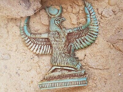 Rare Antique Ancient Egyptian Statue God Horus Falcon Protection Sky 1750-1670BC