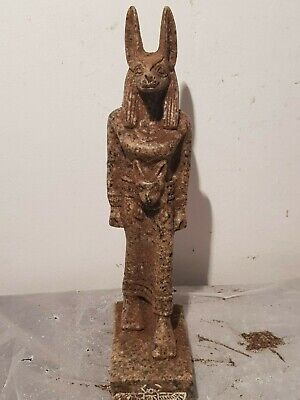 Rare Antique Ancient Egyptian Statue God Anubis Dead mummification 1750-1670BC