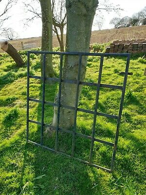 Vintage heavy old Iron Gate garden path paddock stable driveway farm estate barn
