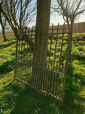 Antique wrought Iron estate Gate Victorian garden old stable driveway farm barn