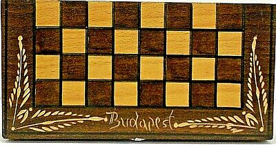 Chess Set Portable Wooden Budapest Hand Carved