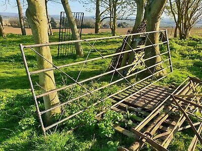 6 bar Vintage Farm Gate 12 foot long stable paddock garden barn shed driveway