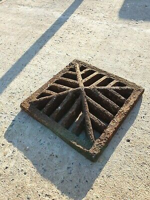 Rain drain grill cover grate Manhole Cover vintage Reclaimed cast iron salvage