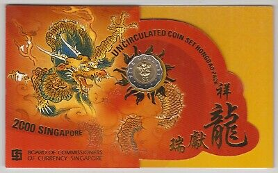 Singapore Coins - 2000 Uncirculated Coin Set Hongbao Pack.