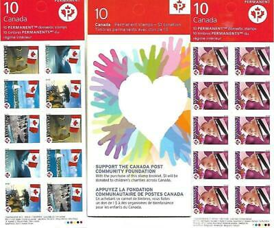 Canada - MNH Permanent Stamps Booklets of 3 (Bk 340a, Bk 341 & Bk 508) New